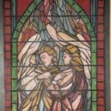 Stained glass window other side