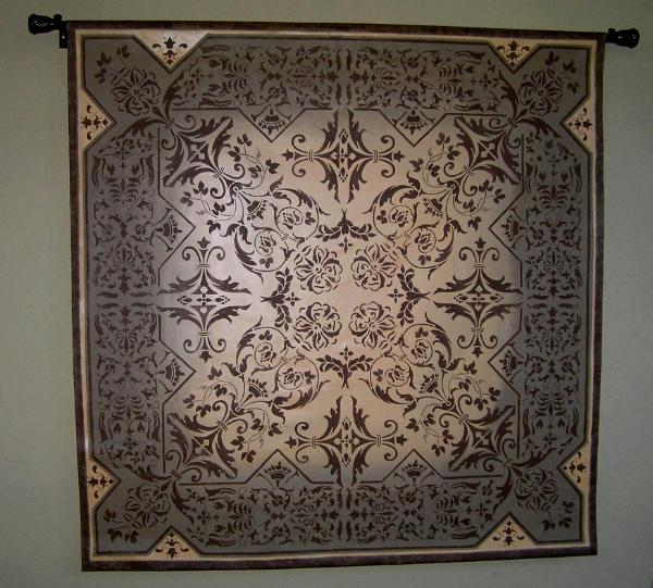 Stenciled tapestry