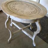Stenciled Oval Table